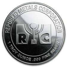 Médaille Argent 999/1000 1 once Republic Metals Corporation - 1 Oz silver RMC