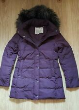 GORGEOUS JACK WILLS HAUXWELL PUFFA DOWN JACKET COAT PLUM SIZE 14