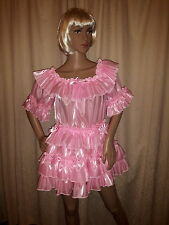Sissy Adult Baby Pink Pearlescent Gypsy Dress