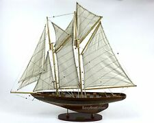 "Eleonora Westward 24"" Handmade Wooden Sailboat Model"