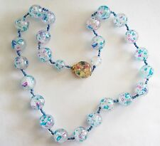 Vintage Cotton Candy Spiderweb Lucite Japan Necklace