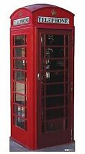 English Telephone Booth Novelty British Life Size Standup Cardboard Cutout 698