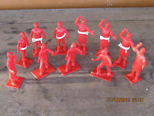 Vintage 1950's  1960's Marx MPC ? red men w/ties lab coats removable white belts