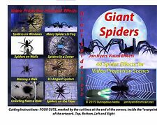 Giant Spiders + MUSIC CD Halloween Video Projection DVD - By Jon Hyers