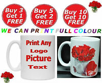 new personalised custom printed mug gift photo logo text birthday