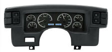 Dakota Digital 90-93 Ford Mustang Analog Dash Gauge BlackAlloy White VHX-90F-MUS