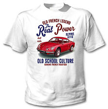 VINTAGE FRENCH CAR RENAULT ALPINE A110 REAL POWER - NEW COTTON T-SHIRT