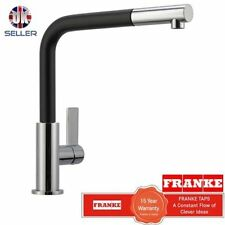 FRANKE NEPTUNE CHROME/BLACK FINISH MIXER KITCHEN TAP PULL OUT SPRAY NEW!