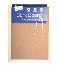 A4 KORK PINNWAND Mini Büro Notice Memoboard+Strähne & 2x Druck Pins Pinnwand-UK