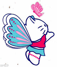 """4""""  HELLO KITTY BUTTERFLY CHARACTER  WALL BORDER PEEL & STICK CUT OUT"""