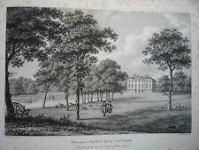 "ANTIQUE ENGRAVING DATED 1779. "" WOLERTON, IN NORFOLK."" RARE."