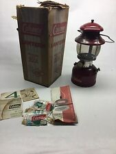 Vintage Coleman 200A Burgundy Red 10/61 Camping Lantern