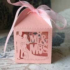50 Wedding Favour Favor Sweet Cake Gift Candy Boxes Bags Party Anniversary