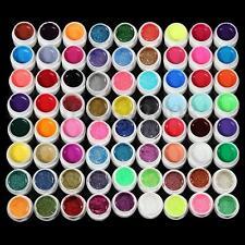 Profi 72 Mix Farbige UV Gel Nagel Set Deko Tipps Farbgel Nagelgel Pure Nail Art