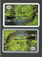 """Playing Swap Cards 2 Vint """"River Dove """" U.K. Awesome Country Side 388"""