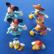 Disney~Lot of 6 FIGURINES~Fireman Donald Duck~South of Border~Minnie Mouse
