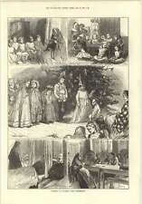 1874 Christmas At Nazareth House Hammersmith Old Men's Infirmary Workroom