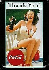 Coca Cola THANK YOU Metal Postcard / Mini Firmar (Hi)
