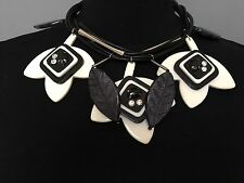 Authentic Max Mara Weekend Gorgeous Black and White Necklace, MSRP $165.0 Italy