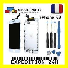 ECRAN LCD RETINA + VITRE TACTILE COMPLET SUR CHASSIS IPHONE 6S BLANC + OUTILS