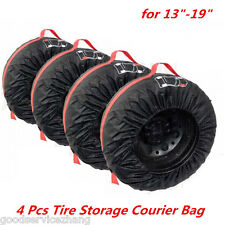 4pc Tire Storage Cover Accessory Part Tote Car Truck Carry Bag Season Protection