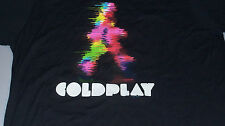 "COLDPLAY ""Blurred Man"" T-Shirt Size L Concert Tour Chris Martin Buckland"