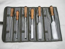 STANLEY Pre 720  CHISEL SET X-Long X-Fine  6  in US NAVY ROLL