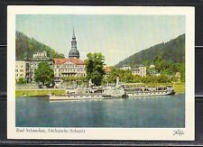 Germany 1926 mint postcard Bad Schandau Sachsische Schweiz steamer Pillnitz