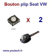 Lot 2 Switchs boutons poussoir Clé plip SEAT AROSA, IBIZA, LEON,TOLEDO VW PASSAT