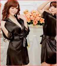 Sexy Lingerie Sleepwear Pajamas bathrobe Babydoll girls nightie black gown