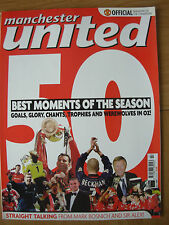 MANCHESTER UNITED OFFICIAL MAGAZINE ISSUE 91 JULY 2000 SEASON REVIEW