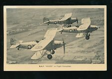 Aviation Military RAF air force HINDS in Flight Formation c1920/30s? PPC