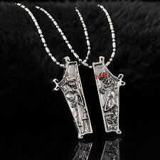 Retro The Nightmare Before Christmas Jack Skellington Sally Necklace Pendant set