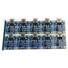 10PCS TP4056 Mini USB 1A 4.5V-5.5V Lithium Battery Charger Module Charging Board