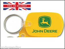 BRAND NEW OFFICIALLY LICENSED JOHN DEERE YELLOW PLASTIC KEY CHAIN RING CAP TAG