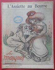 """L'ASSIETTE AU BEURRE  N°50 - 15 Mars 1902 """"LES MASQUES"""" par Louis MORIN"""