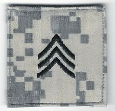 "2"" x 2"" ACU US Army E-5 E5 SGT Sergeant Rank Insignia Hook Fastener Patch"