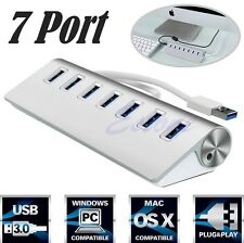 USB3.0 HUB Aluminum 7 Ports High Speed For Apple Macbook Pro Mac PC Laptop Pop