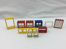 11 X LEGO MIXED JOB LOT WINDOW FRAME BLOCK WALL MIX COLORS GENUINE FREE UK POST