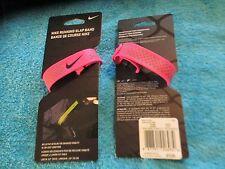 Nike Running Slap Band Reflective Wristband / Bracelet Pink New Free Shipping