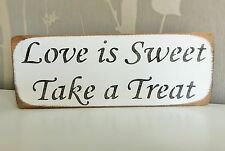 WOOD WEDDING PARTY CANDY BAR SWEET TABLE SIGN PLAQUE DECORATION BY AUSTIN SLOAN
