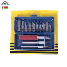 16pc Hobby Knife Craft Set Wood Carving Blades Exacto Cutters