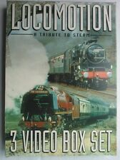 LOCOMOTION A TRIBUTE TO STEAM.3 X VIDEO BOX SET 22,1997,MINOR USE,V/GOOD