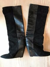 Isabel Marant Mainline Boots - Wedge Heel, Half Leather, Half Suede. Black 38