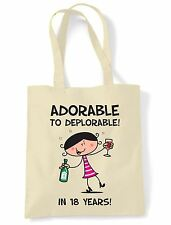Adorable To Deplorable 18th Birthday Present Shoulder ToteBag - Funny Gift
