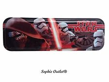 STAR WARS The Force Awakens TIN PENCIL CASE Kylo Ren Episode VII Kids Box Gift