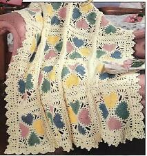 *Lacy Valentine Hearts Afghan crochet PATTERN INSTRUCTIONS