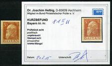 Bayern 30 Pfg. Luitpold 1911** ungezähnt Michel 81 II U Befund (S10726)