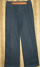 Focus 2000 jean dress pants size 6 womens dark blue
