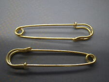 """100-3"""" inch Gold Safety pins x large huge skirt kilt  tag broach Jewelry fashion"""